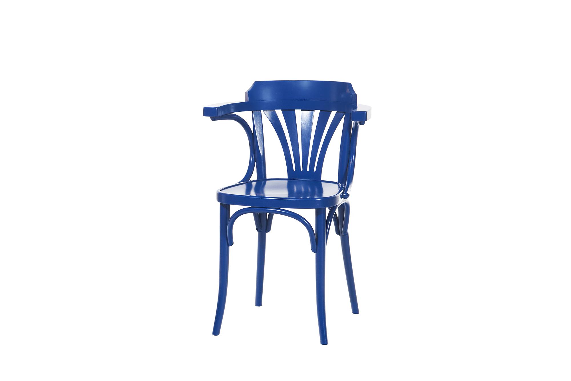 Scaun din lemn de fag 24 Blue, l54xA48xH77 cm imagine