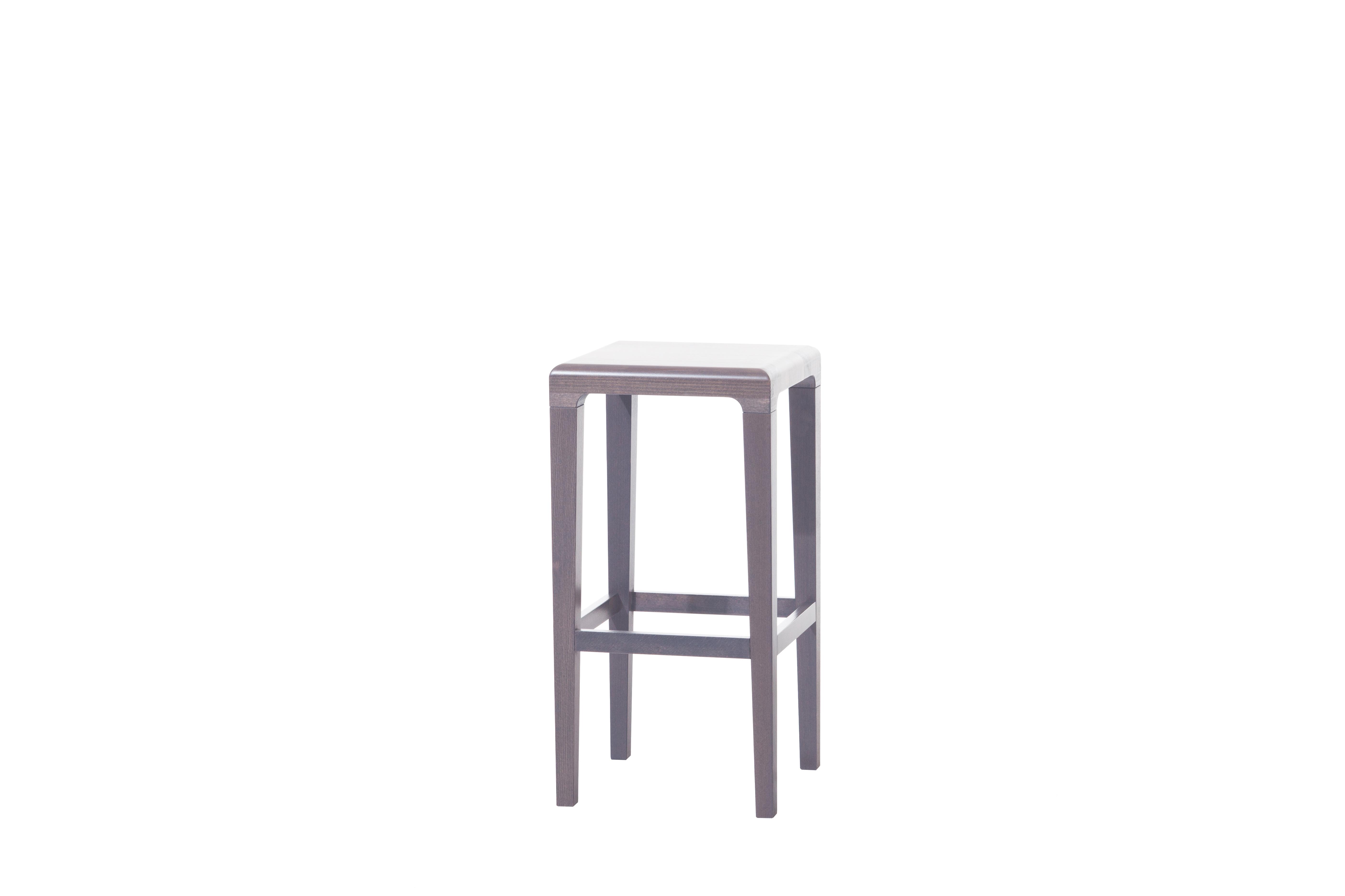 Scaun din lemn de stejar Rioja Grey Small, l32xA32xH64 cm
