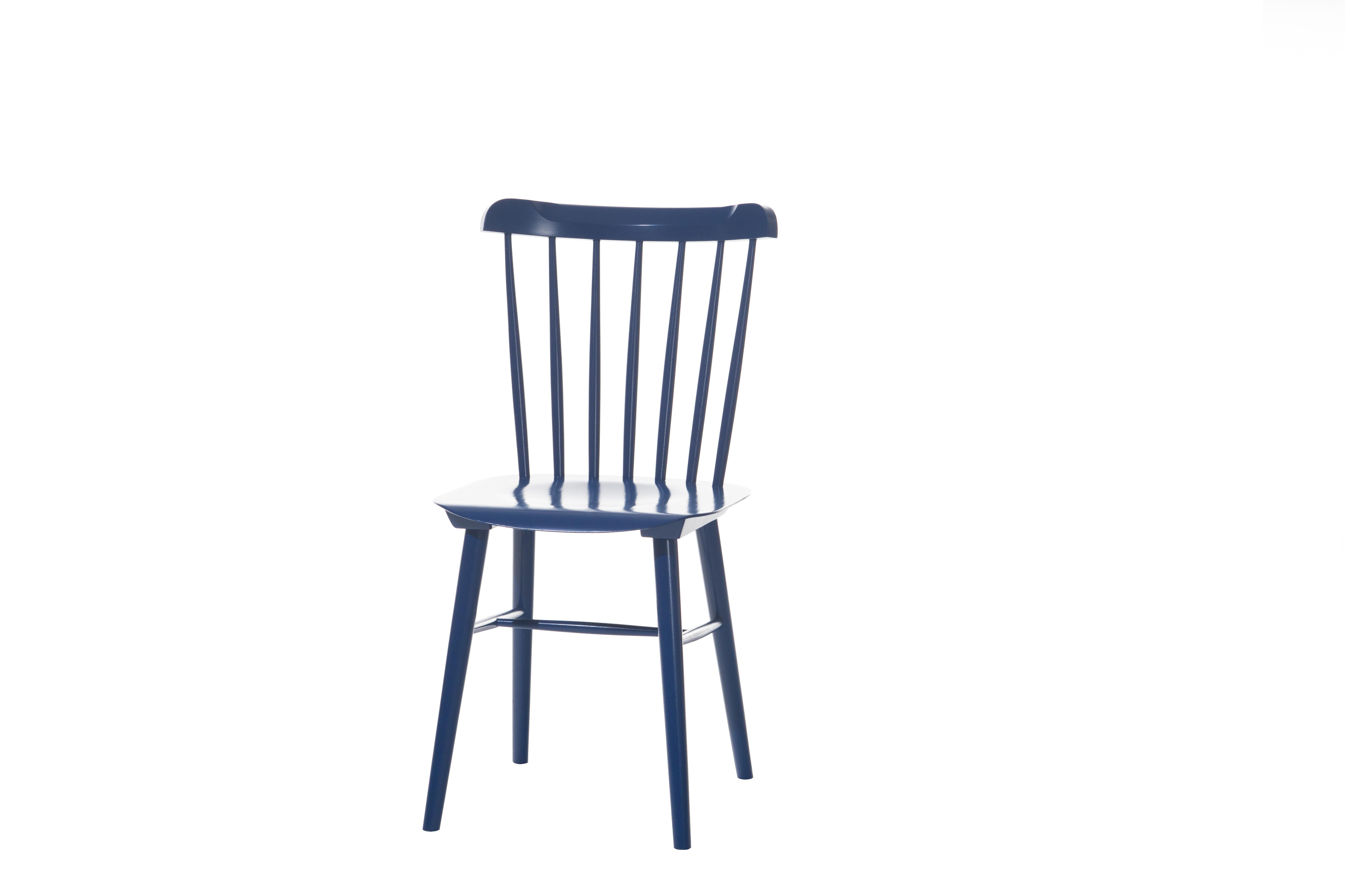 Scaun din lemn de fag Ironica Blue, l44xA47,5xH84,5 cm
