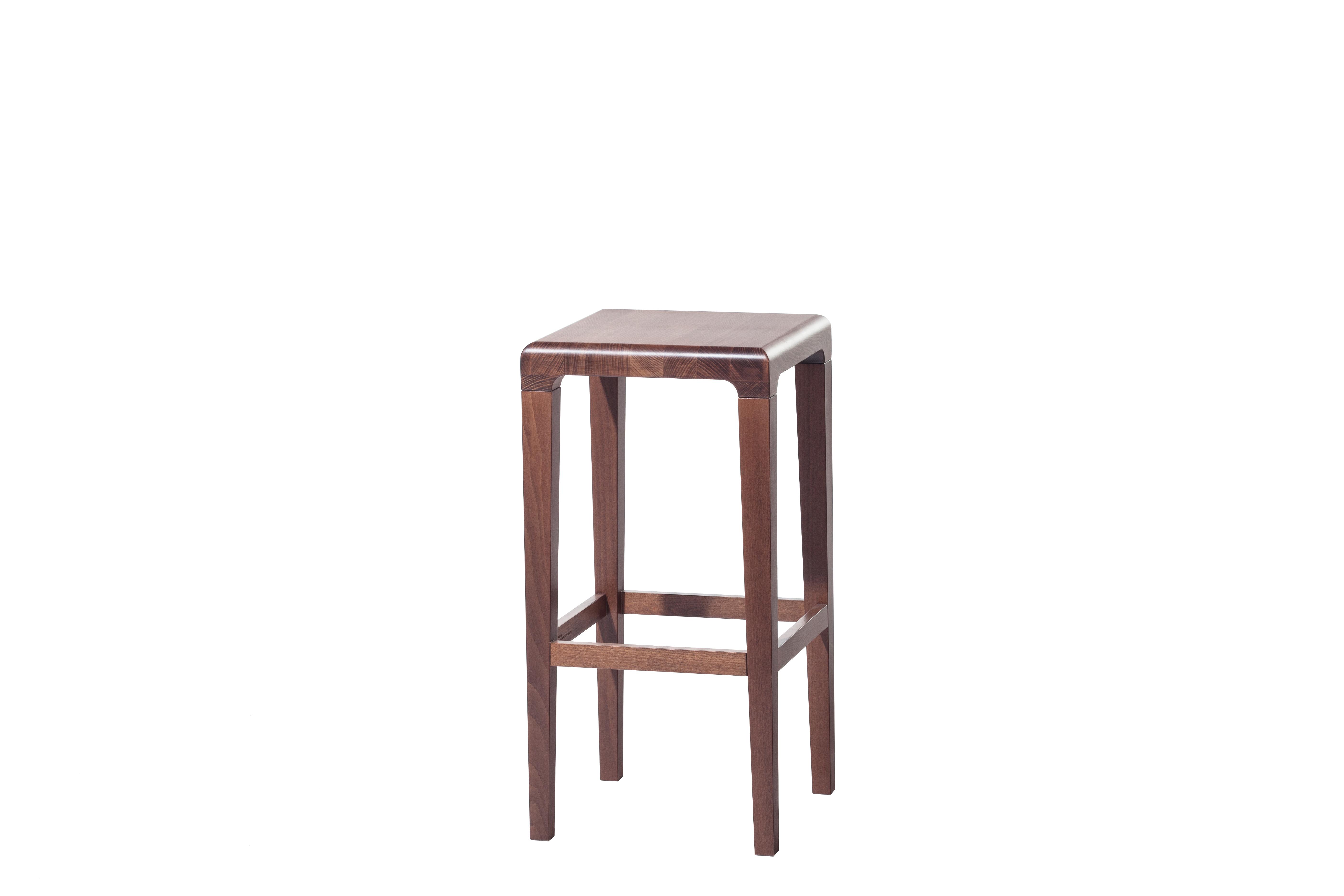 Scaun din lemn de stejar Rioja Brown Small, l32xA32xH64 cm imagine