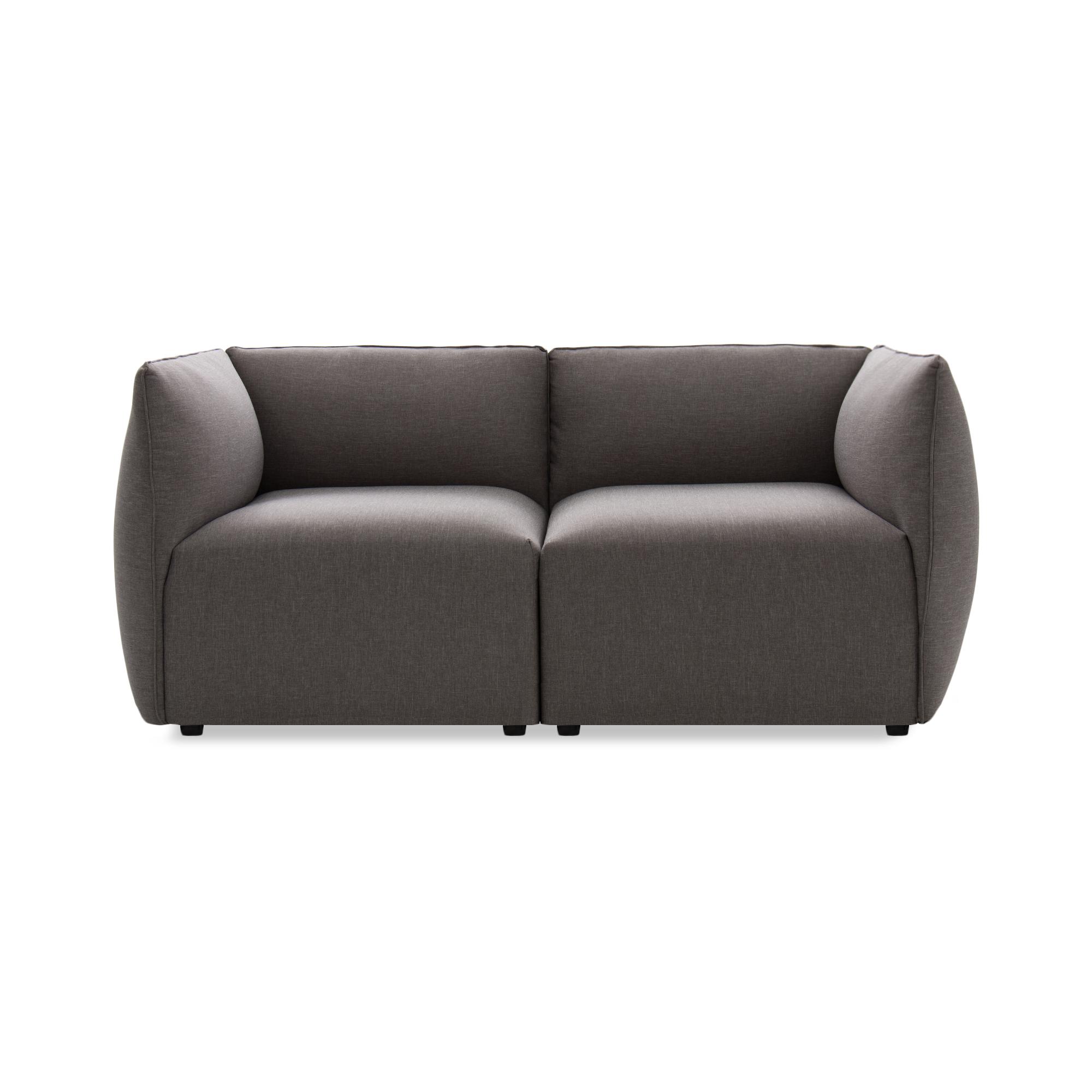 Canapea Fixa 2 locuri Cube Light Grey