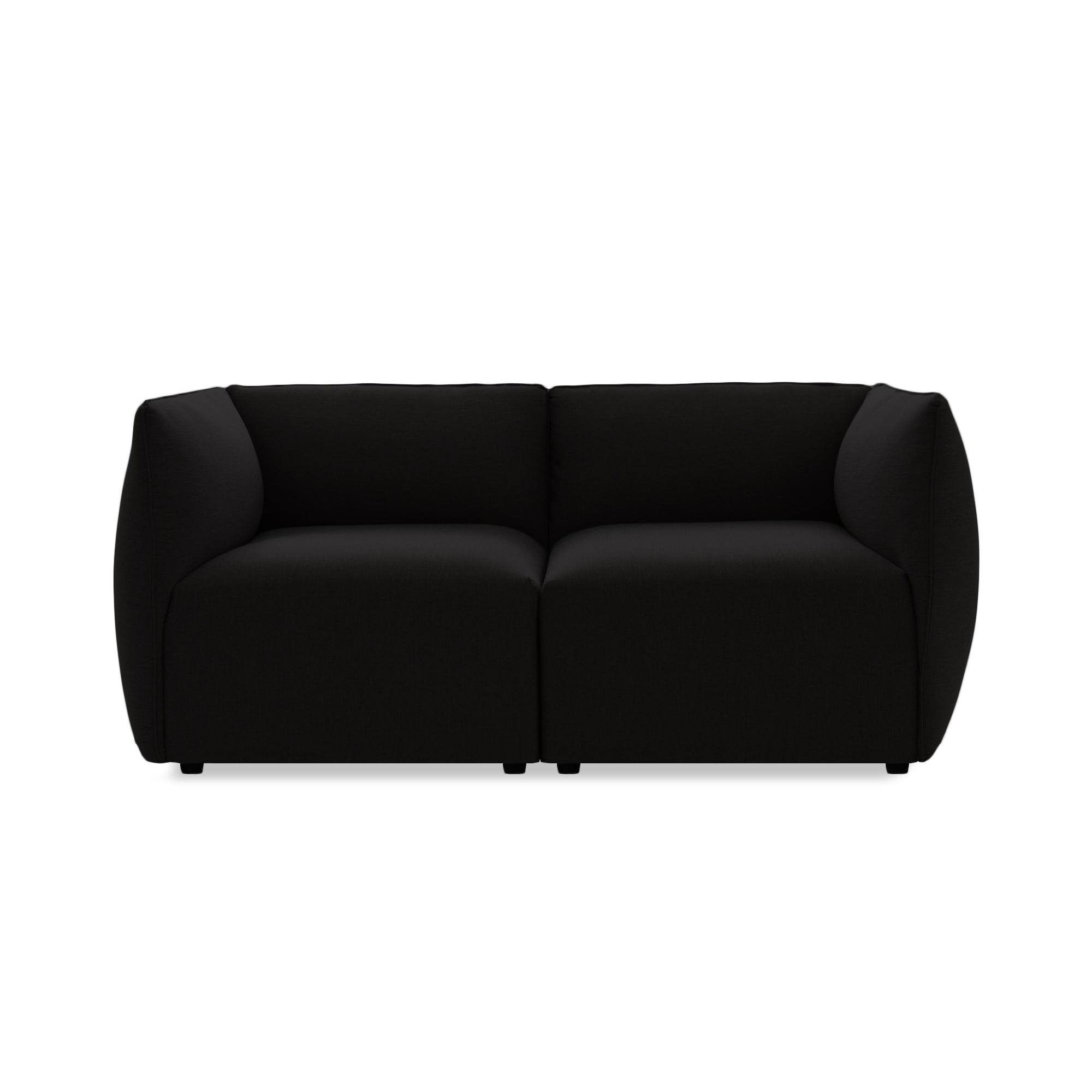 Canapea Fixa 2 locuri Cube Dark Brown