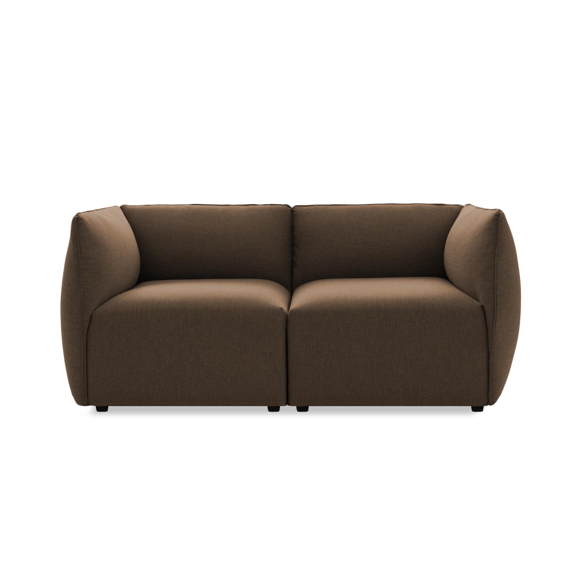 Canapea Fixa 2 locuri Cube Dark Beige