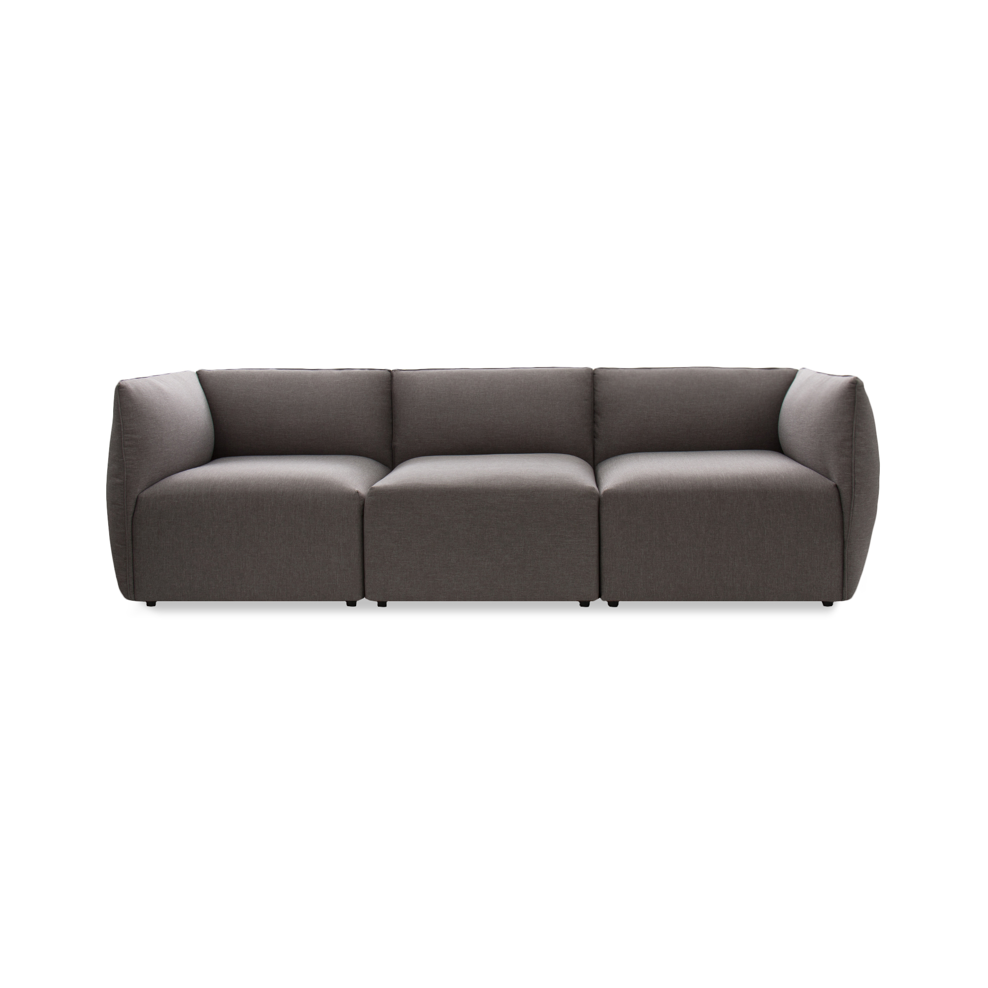 Canapea Fixa 3 locuri Cube Light Grey