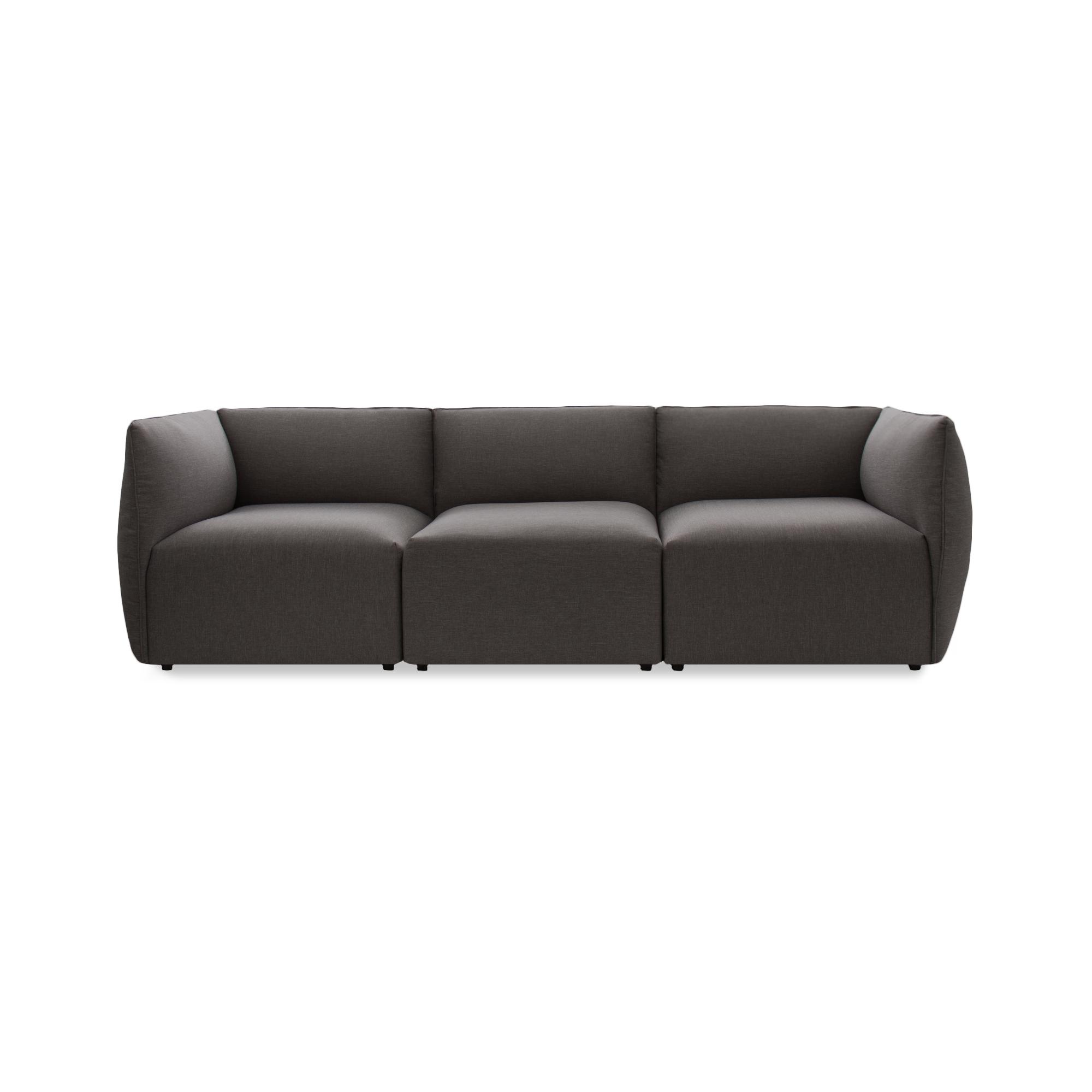 Canapea Fixa 3 locuri Cube Dark Grey