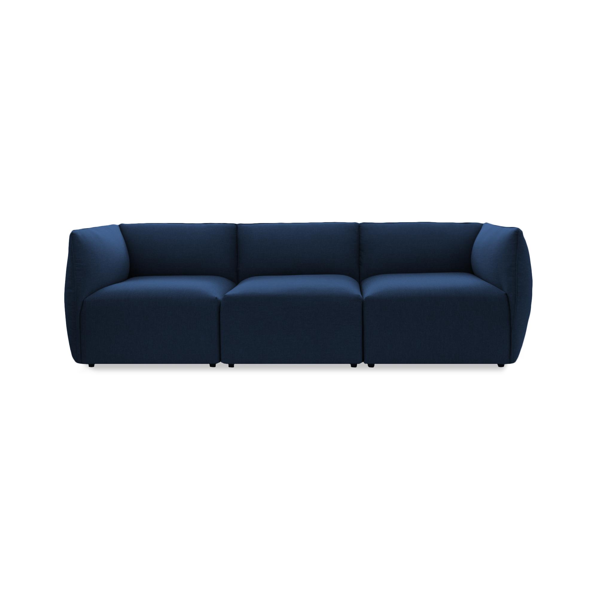 Canapea Fixa 3 locuri Cube Dark Blue