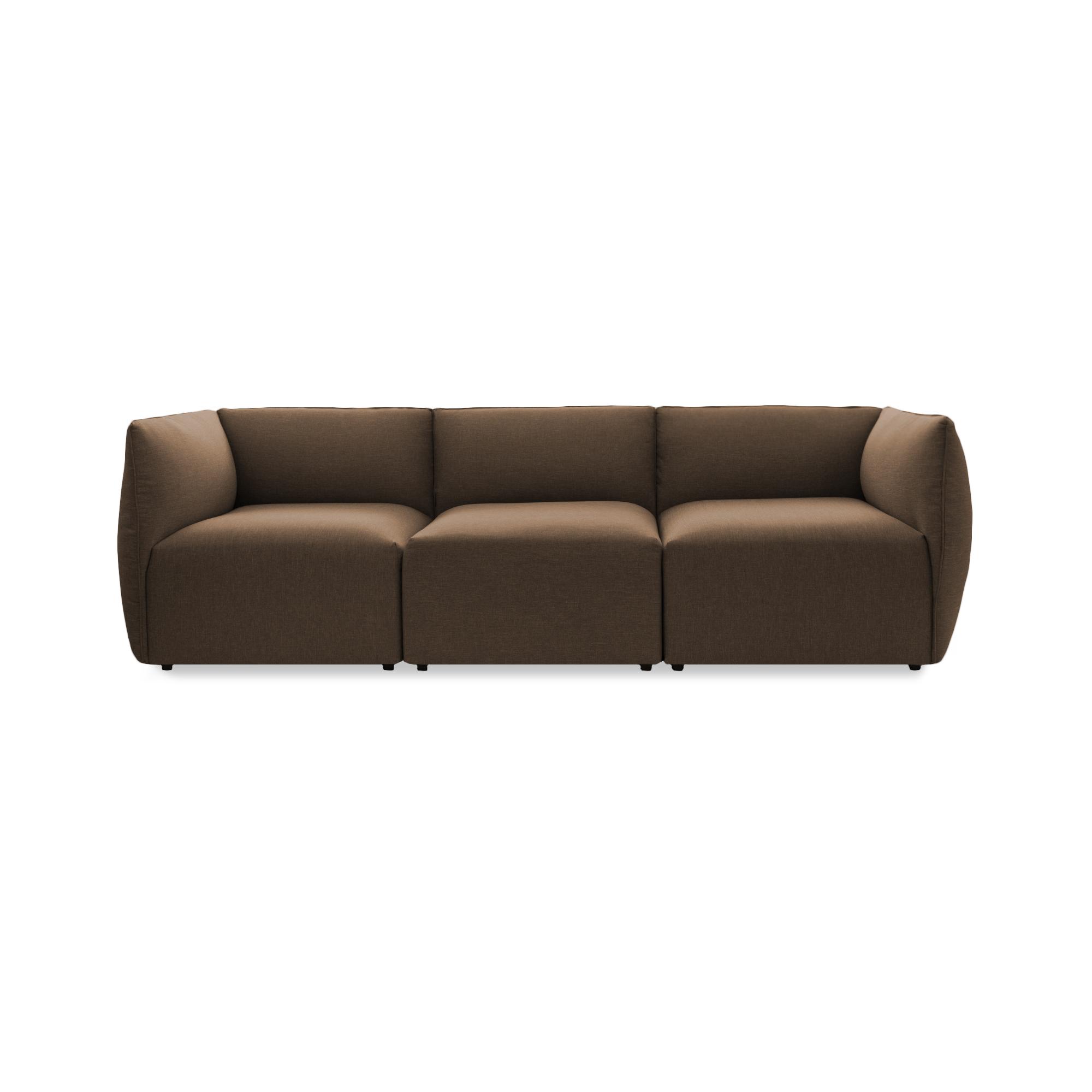 Canapea Fixa 3 locuri Cube Dark Beige