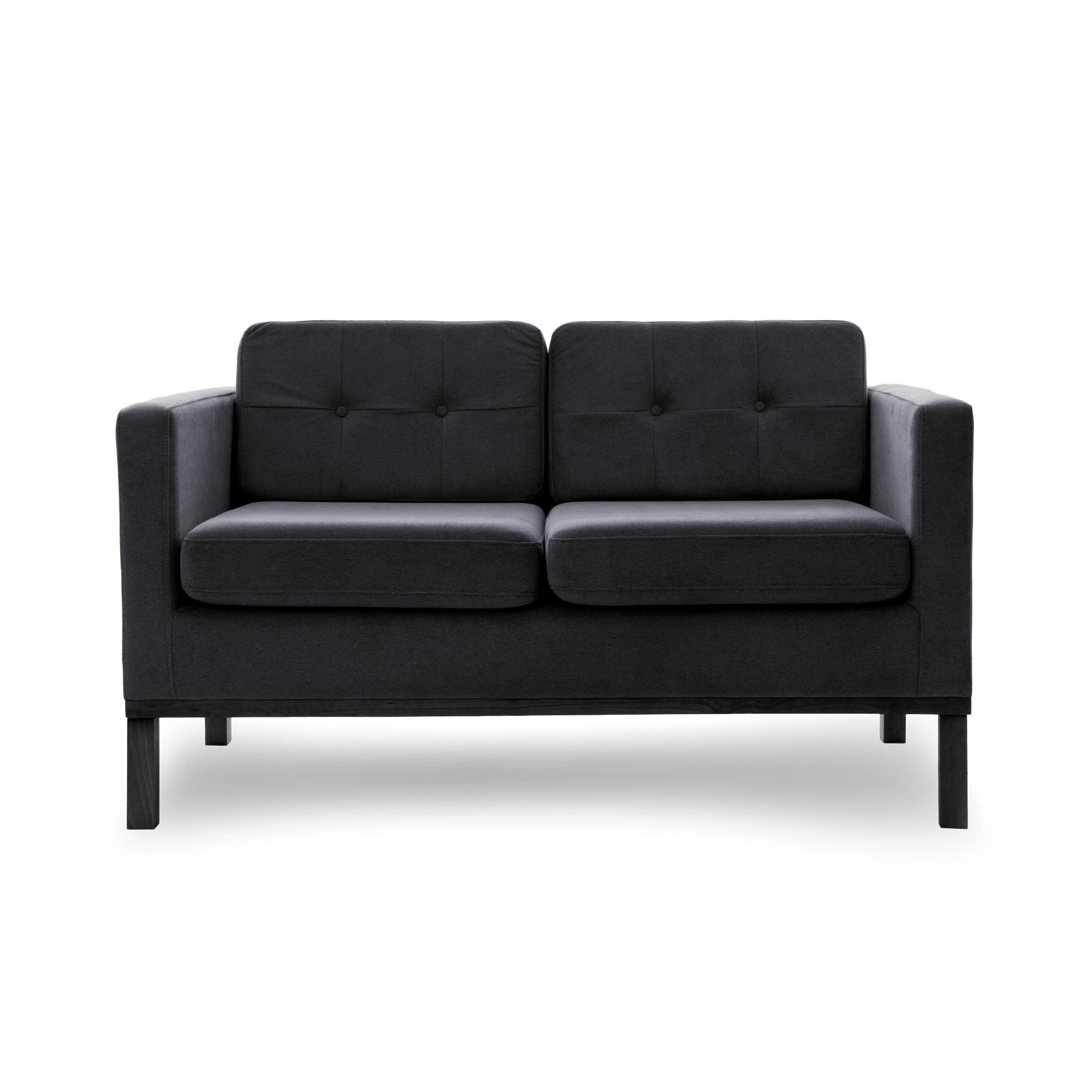 Canapea Fixa 2 locuri Jonan Dark Grey/Black