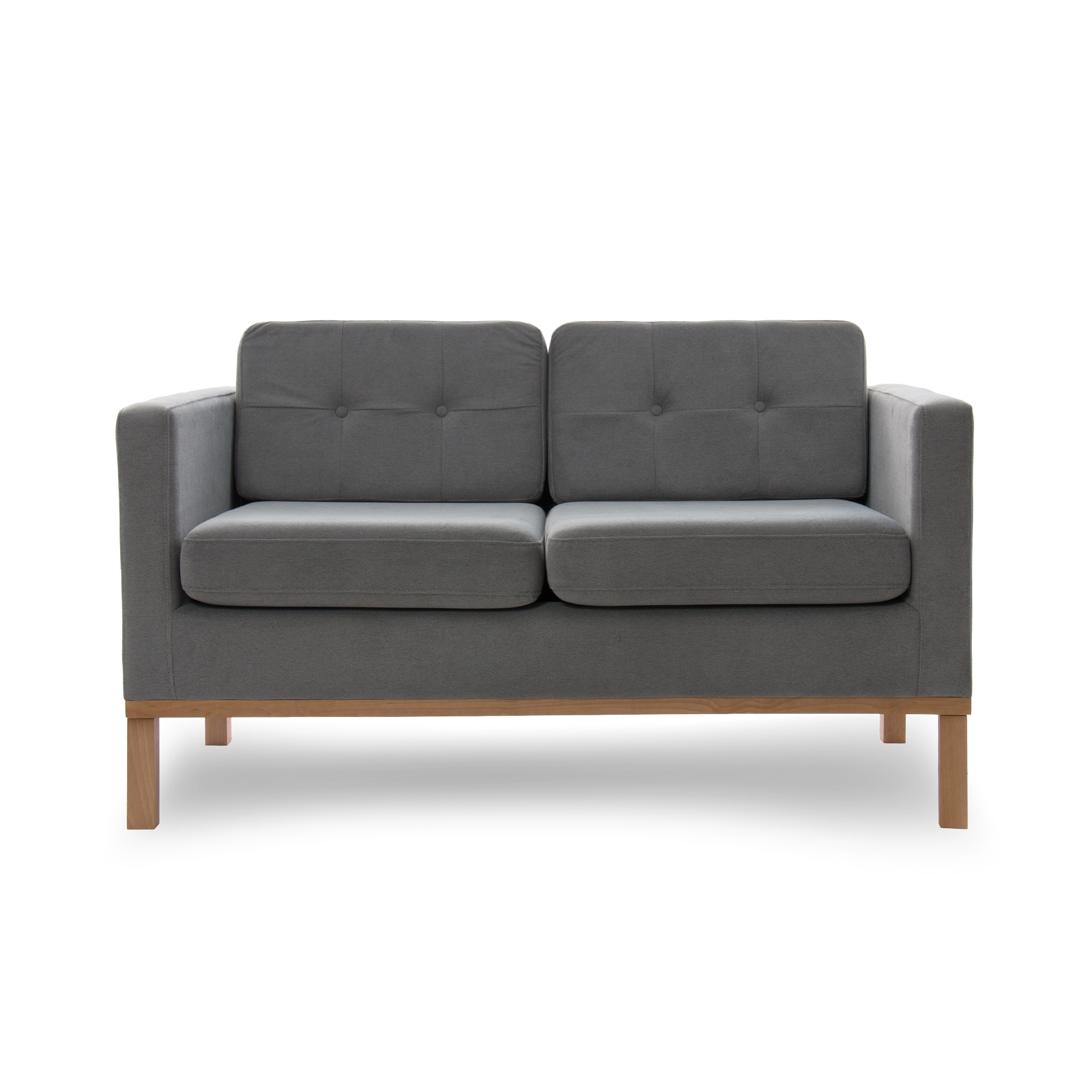 Canapea Fixa 2 locuri Jonan Light Grey/Natural