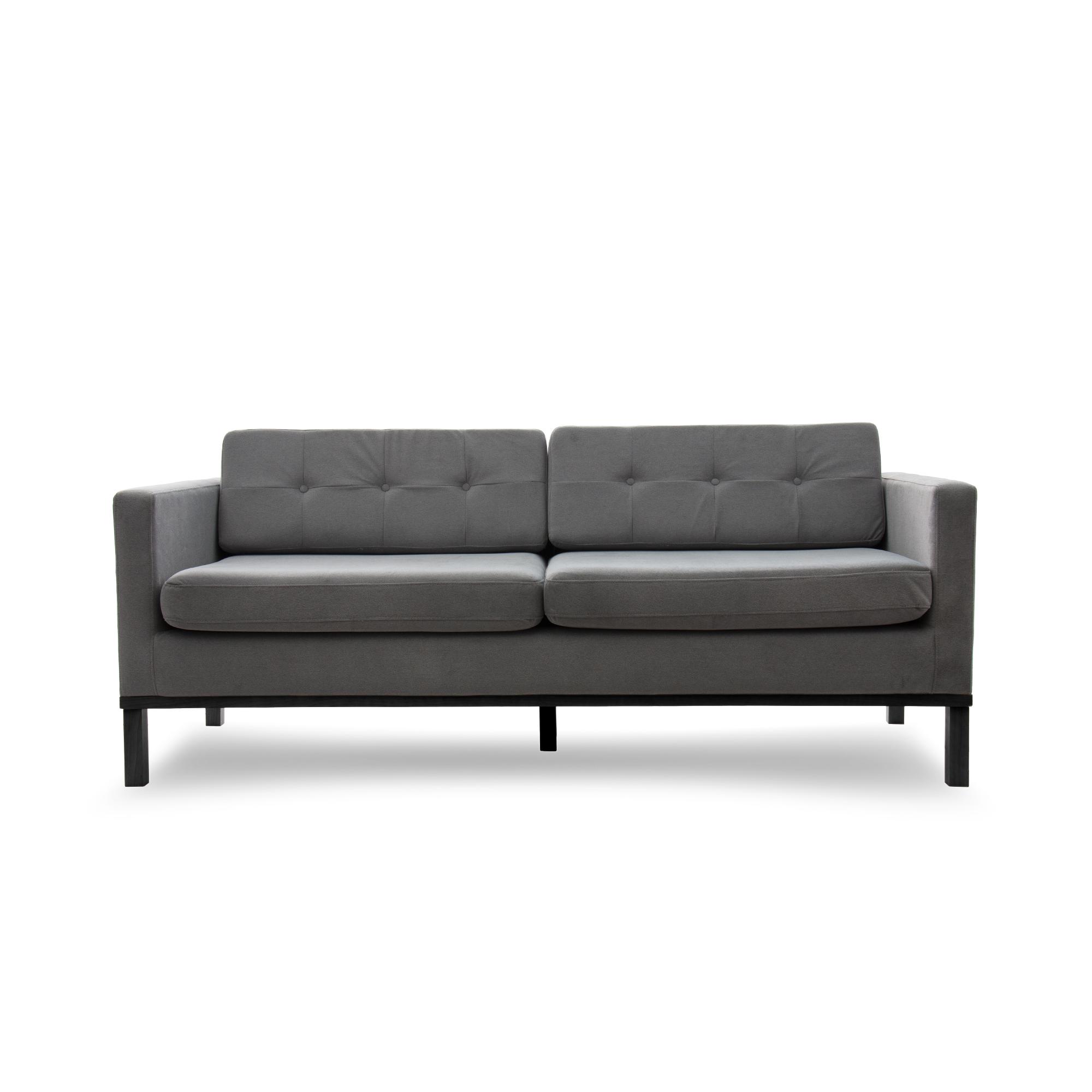 Canapea Fixa 3 locuri Jonan Light Grey/Black