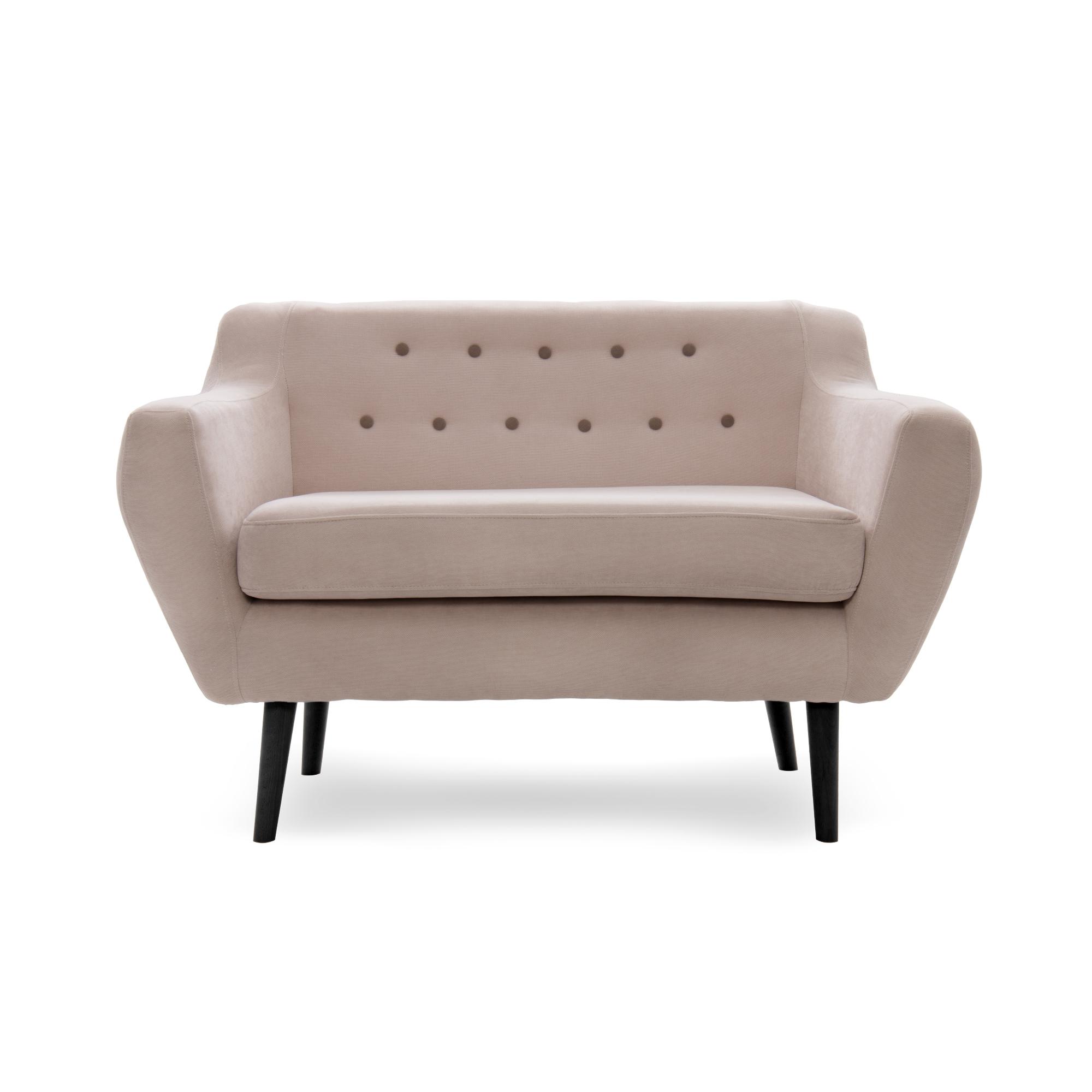 Canapea Fixa 2 locuri Kelly Beige/Black