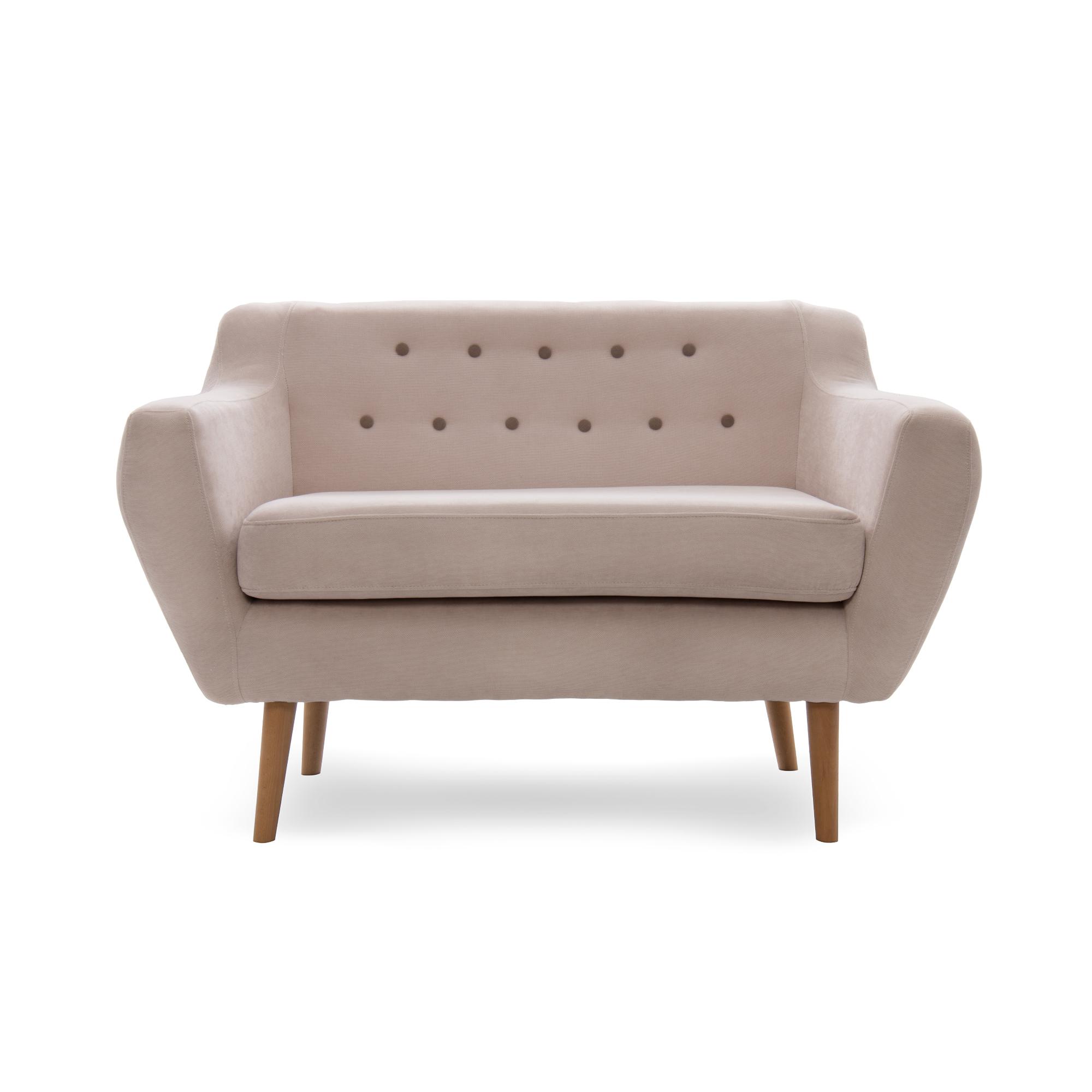 Canapea Fixa 2 locuri Kelly Beige/Natural