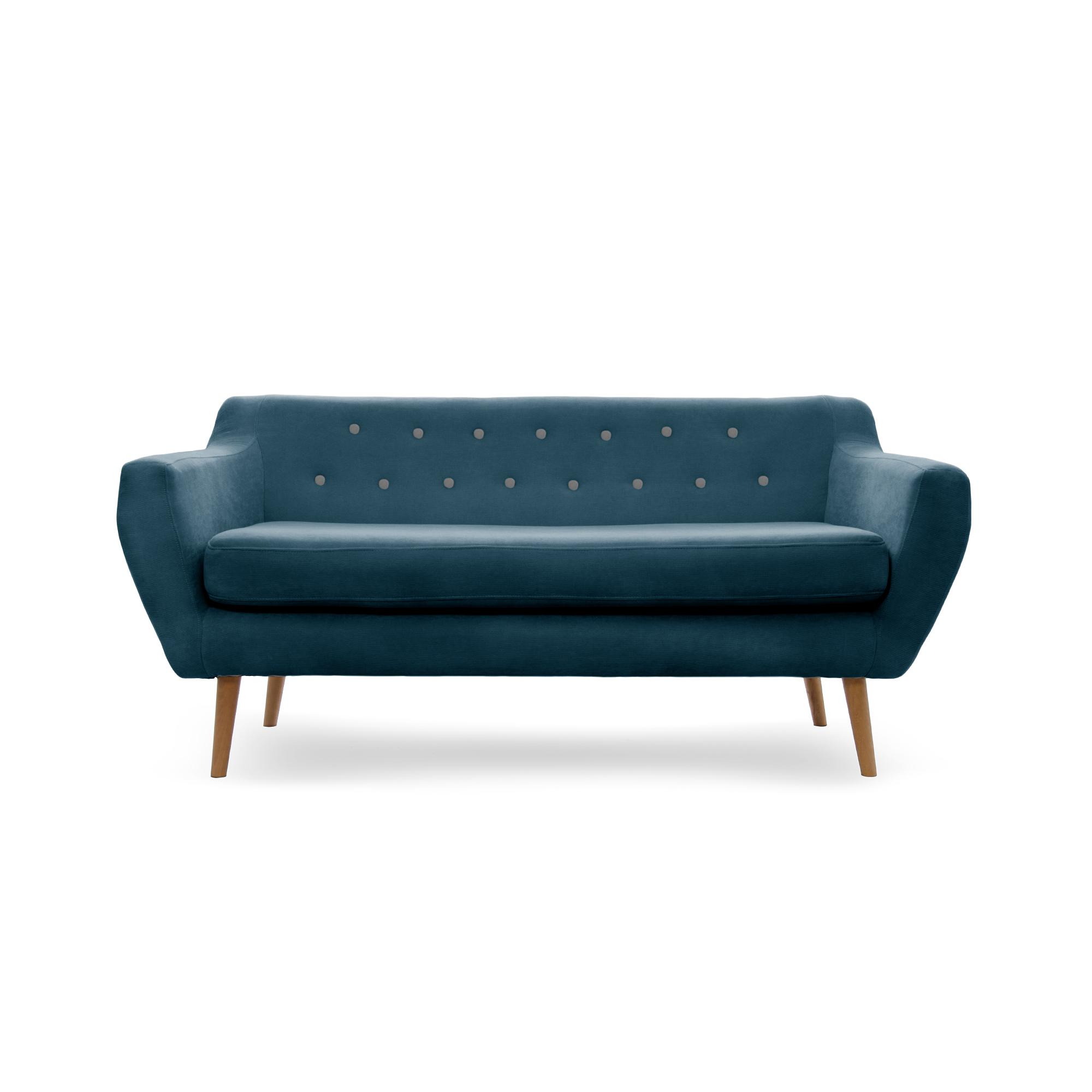 Canapea Fixa 3 locuri Kelly Marine Bleu/Natural