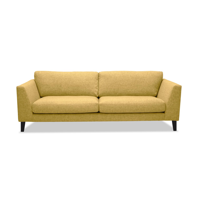Canapea Fixa 3 locuri Monroe Yellow