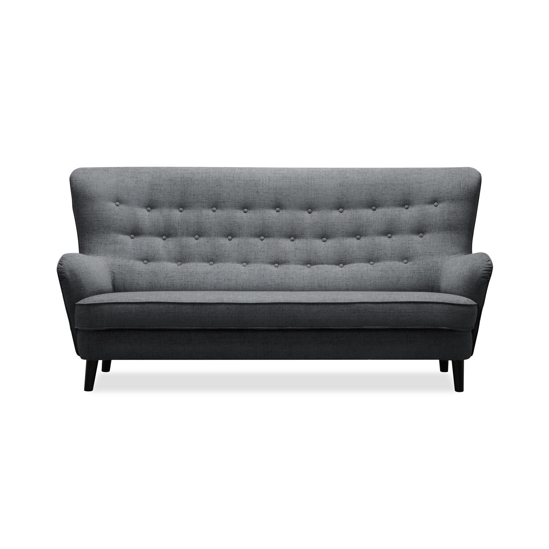 Canapea Fixa 3 locuri Fifties Antracit