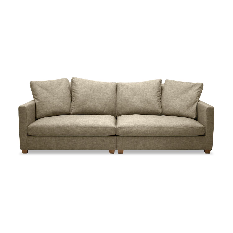 Canapea Fixa 3 locuri Hugo Beige