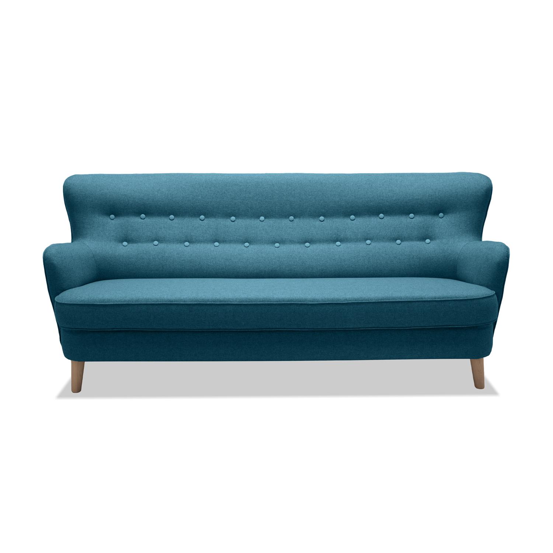 Canapea Fixa 3 locuri Eden Turquoise