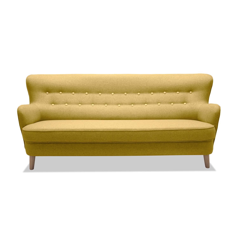 Canapea Fixa 3 locuri Eden Yellow