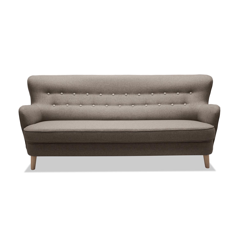 Canapea Fixa 3 locuri Eden Light Grey