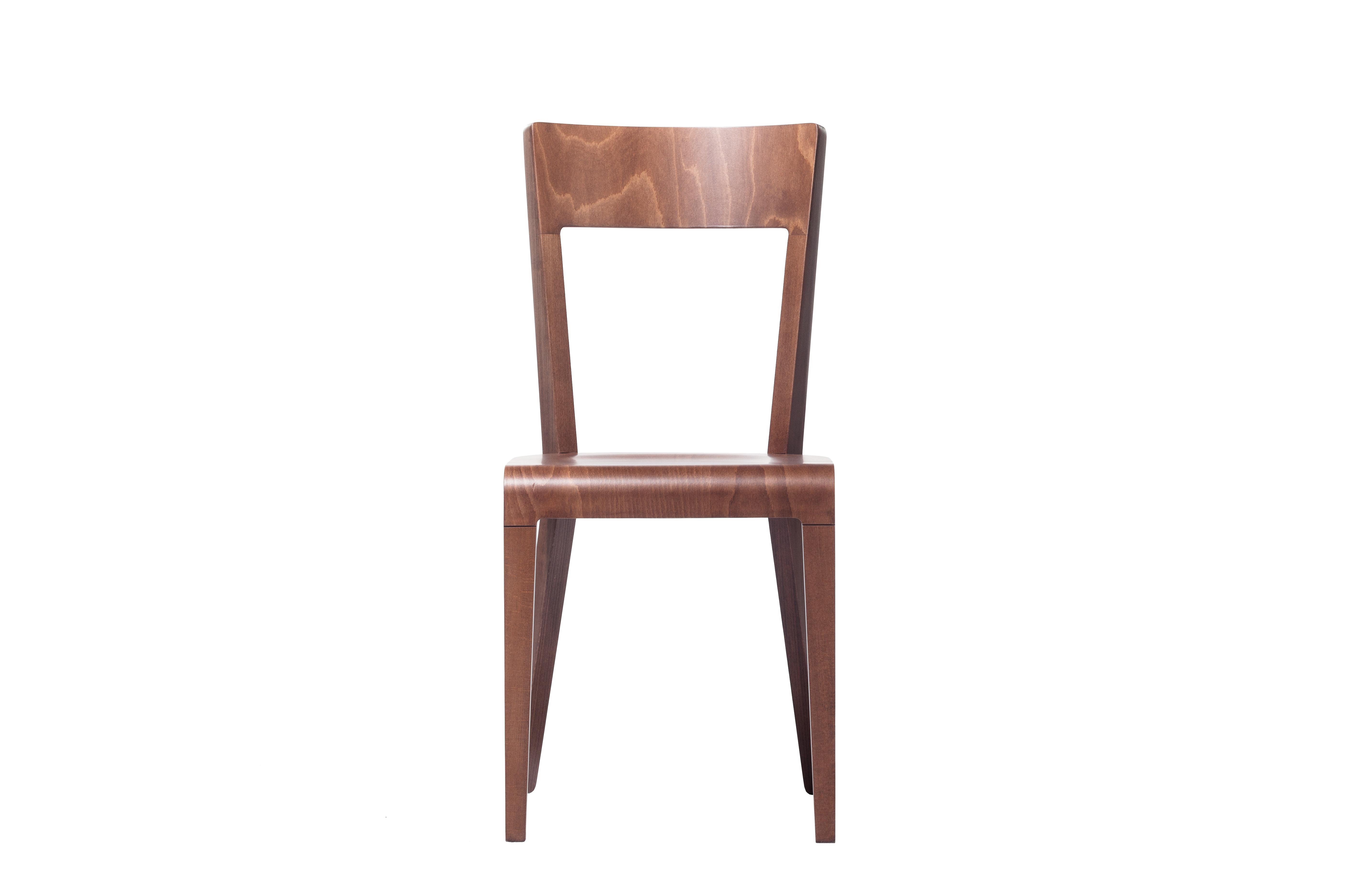 Scaun din lemn de stejar Era Brown, l43xA50xH88 cm