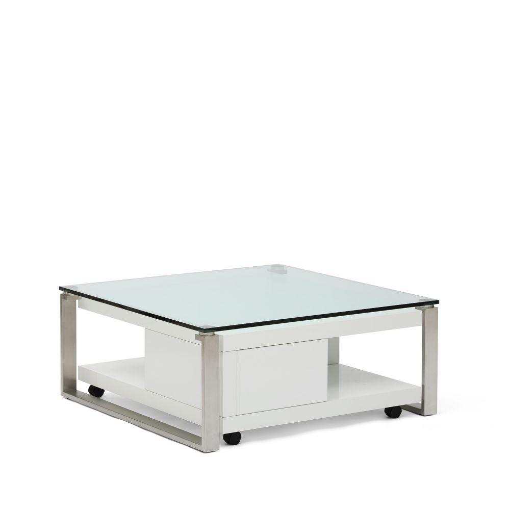 Masa Biscotto Top Glass L100xl100xh42 cm