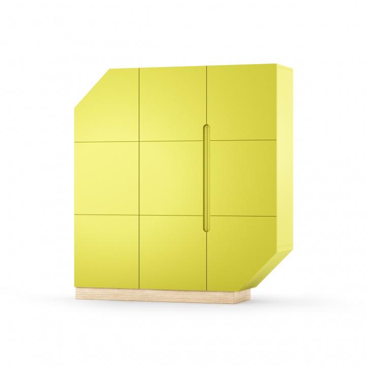 Cabinet Nook Large Oak Lime/Natural, L137xl39xh152 cm