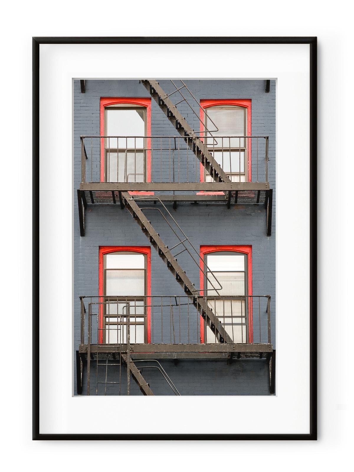 Tablou Façade de Briques New York Aluminium Noir title=Tablou Façade de Briques New York Aluminium Noir