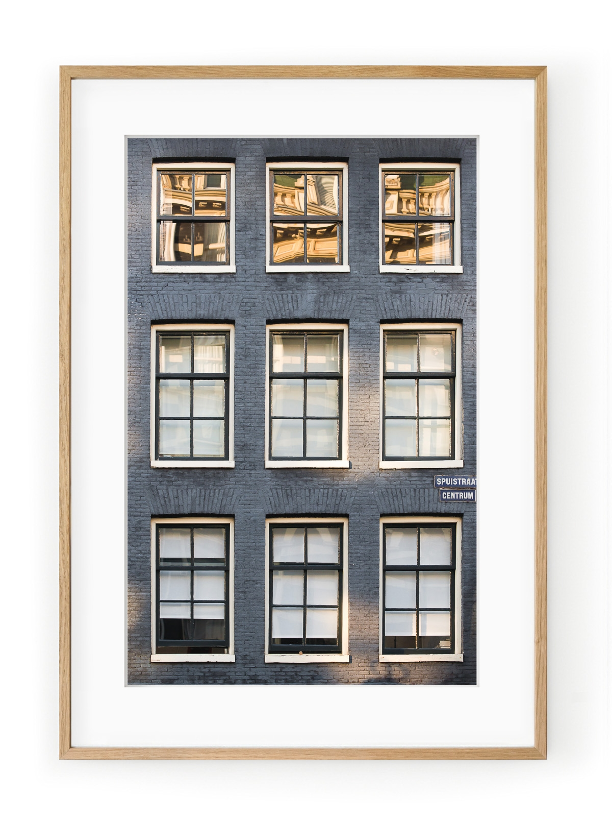 Tablou Facade de Briques Amsterdam Oak
