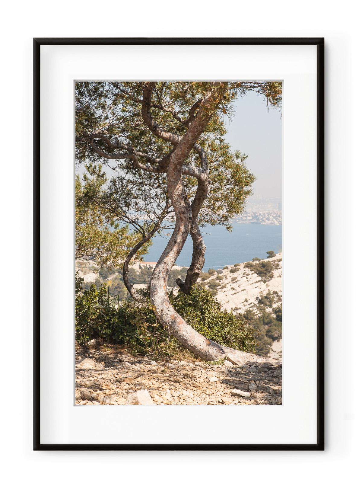 Tablou Route de Cretes Aluminium Noir