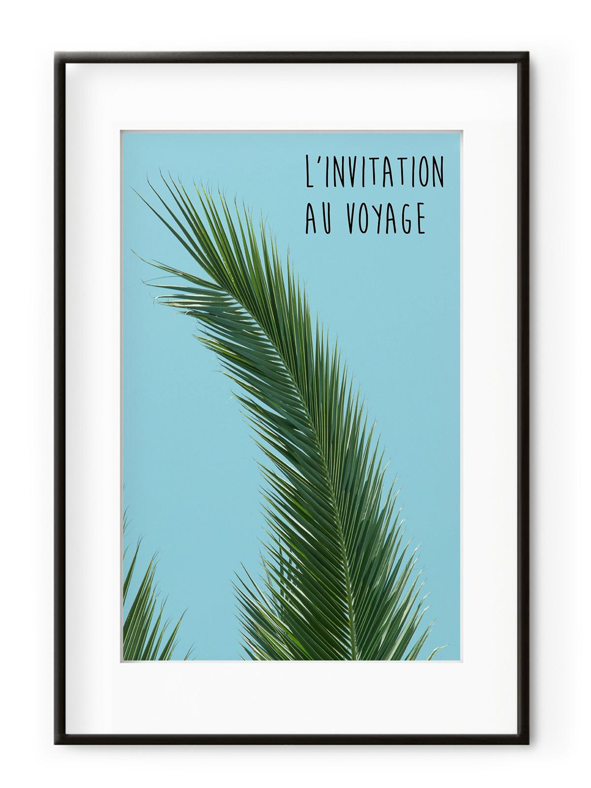 Tablou L'invitation au Voyage Aluminium Noir