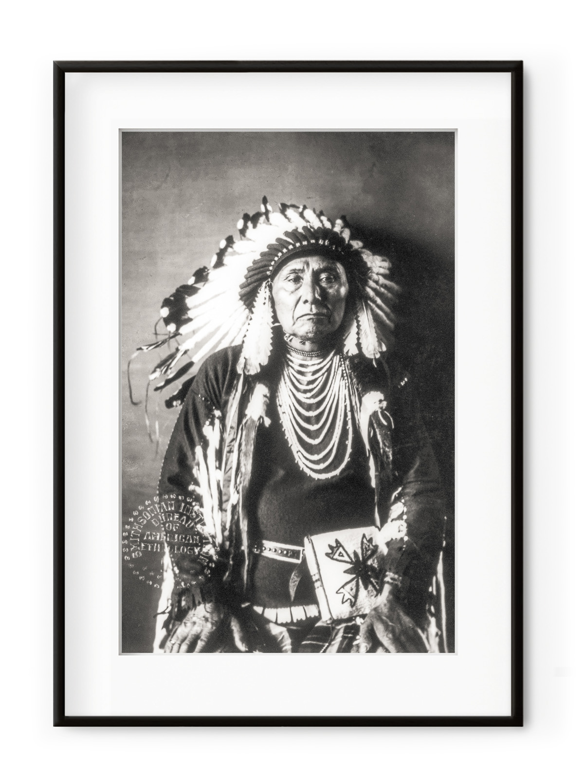 Tablou Native American Aluminium Noir