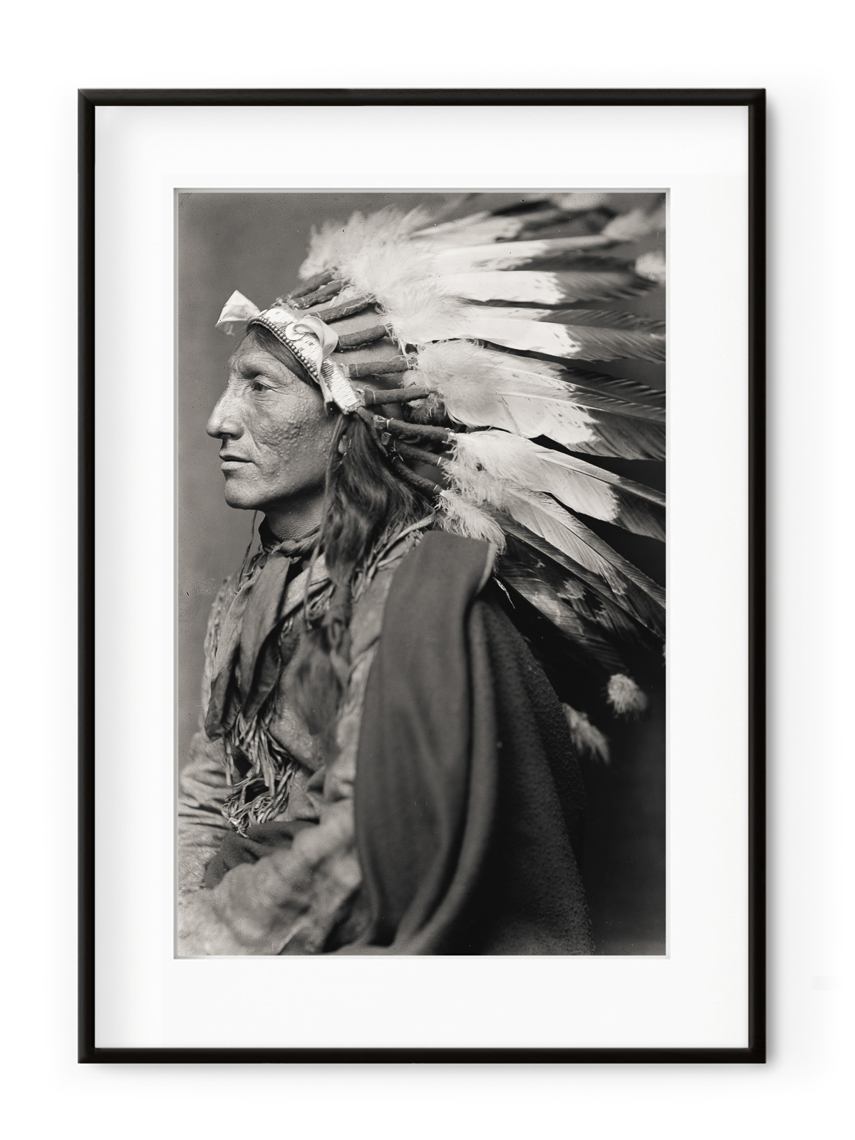 Tablou Native American II Aluminium Noir