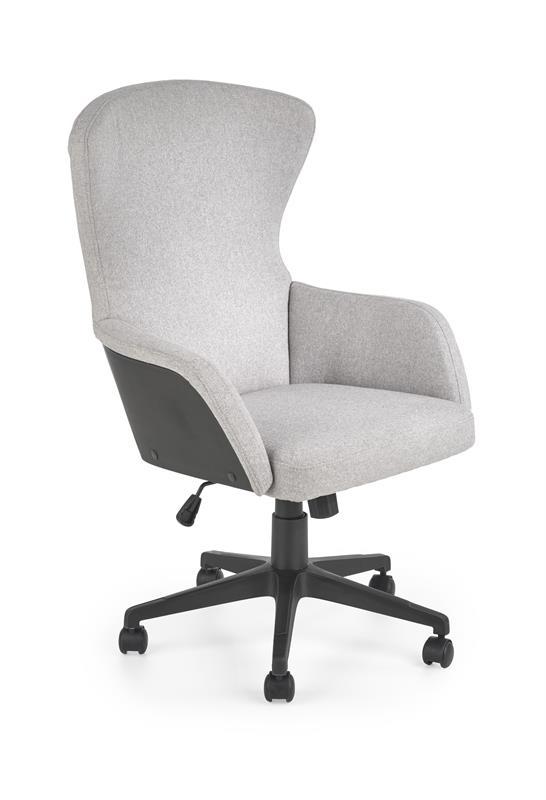 Scaun de birou ergonomic, tapitat cu stofa Dover Gri Deschis / Negru, l64xA65xH104-115 cm
