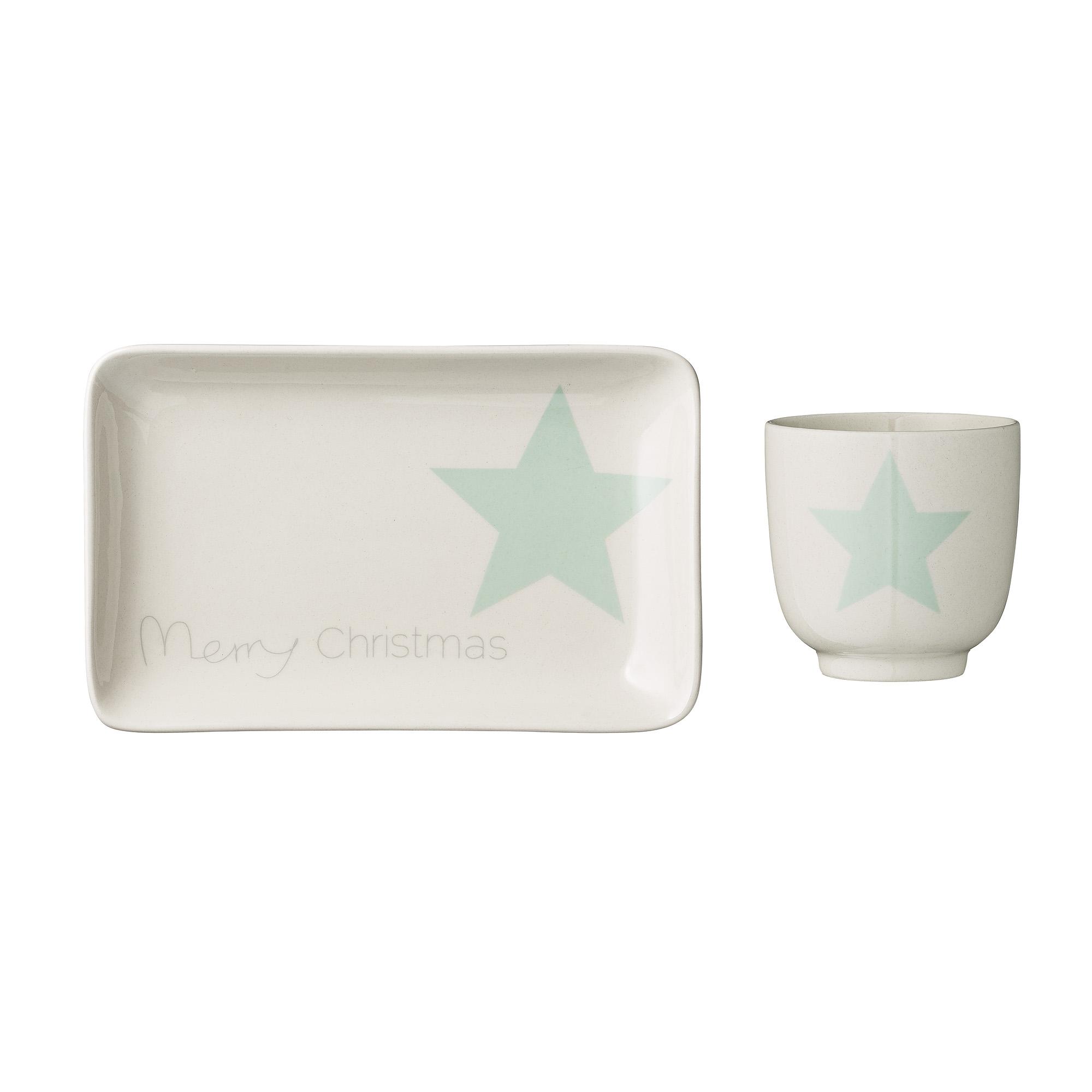Set Star ceasca + farfurie, L19xl12 cm/ Ø7xH7 cm