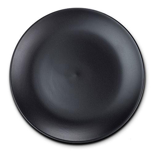 Farfurie ceramica pentru desert Stoneware Black, 21 cm somproduct.ro