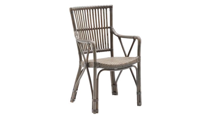 Scaun din rattan Piano Antique Grey