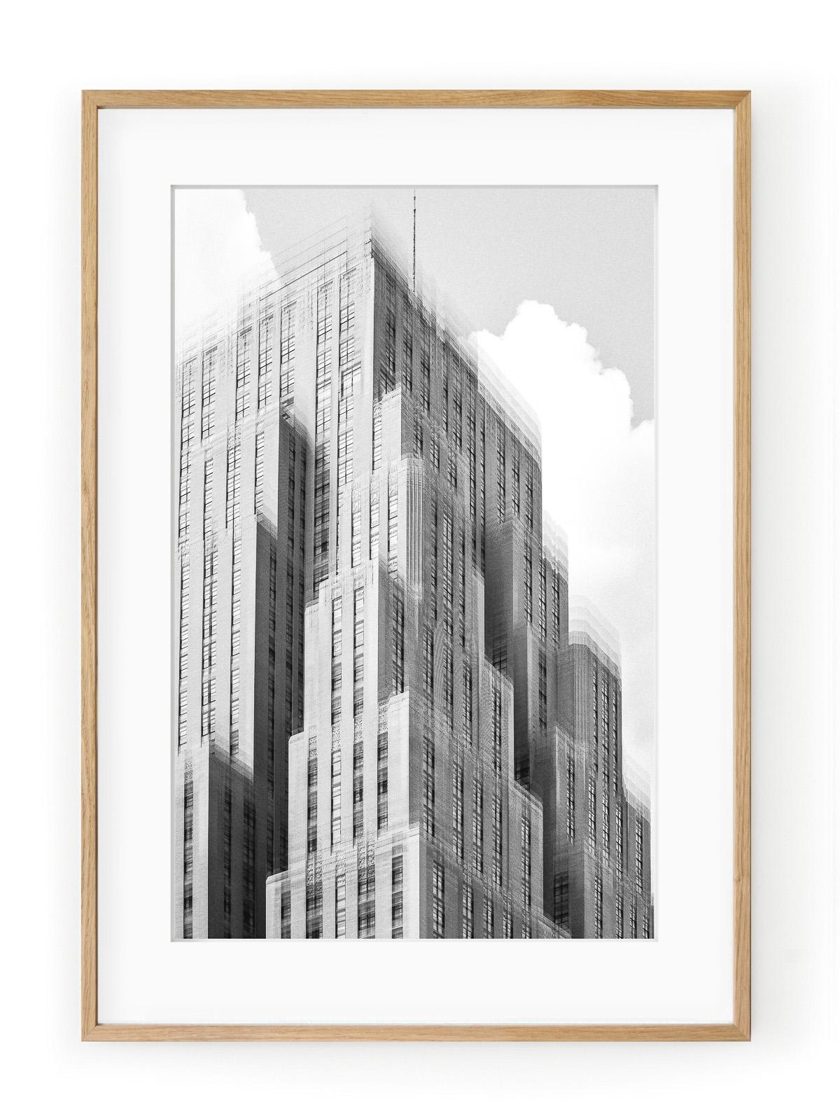 Tablou Architectural Blur II Oak