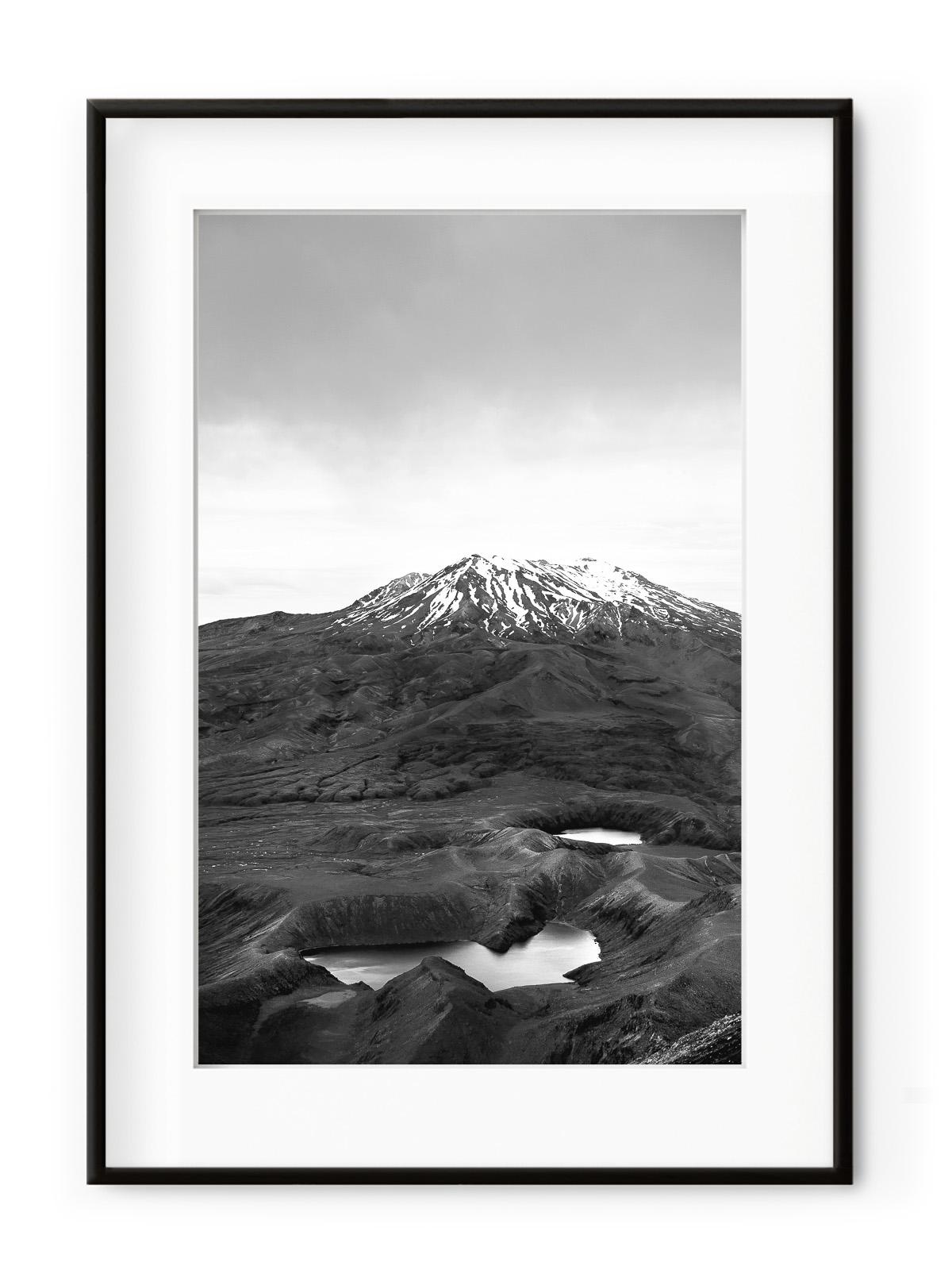 Tablou Ruapehu Stratovolcano Nouvelle Zelande Aluminium Noir