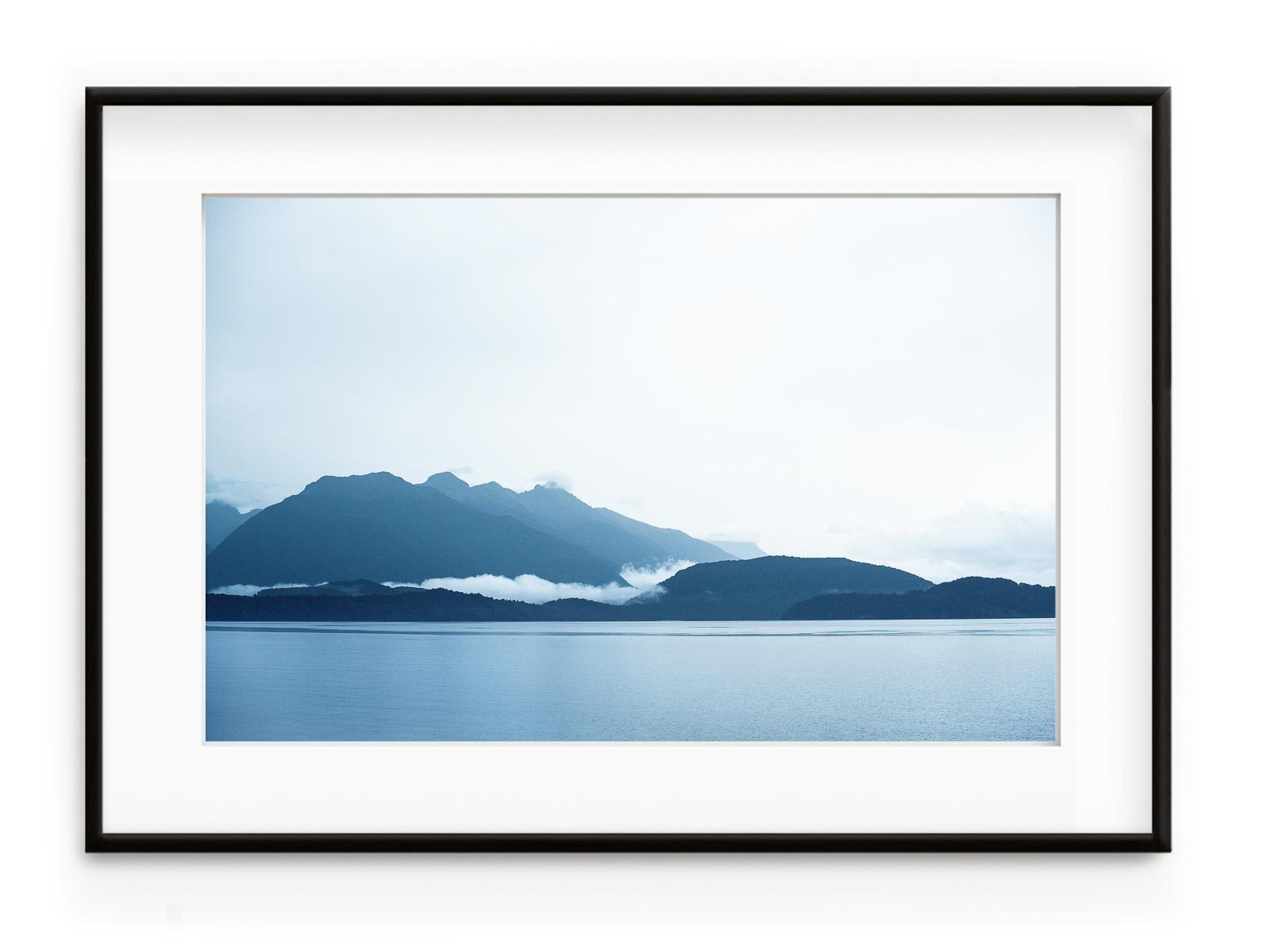 Tablou Manapouri Lake Nouvelle Zelande Aluminium Noir
