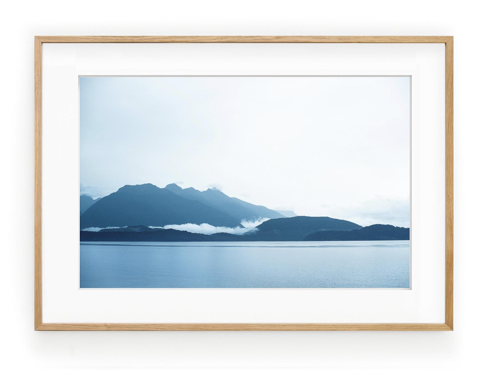 Tablou Manapouri Lake Nouvelle Zelande Oak