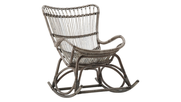 Balansoar din rattan Monet Rocking Grey Antique
