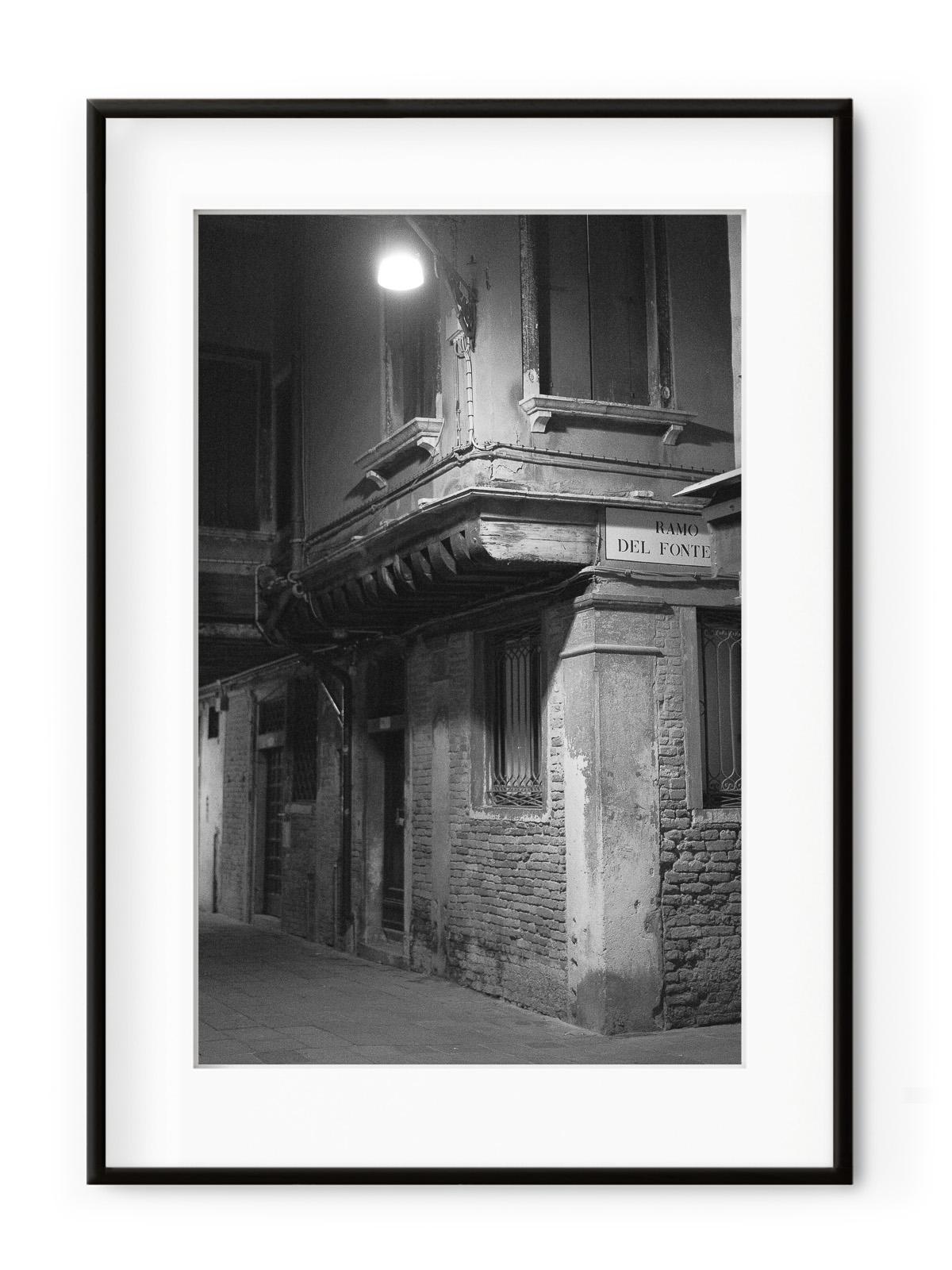 Tablou Venezia di Notte Ramo del Fonte Aluminium Noir