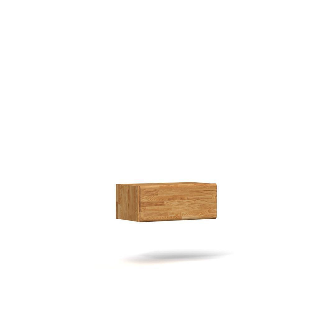 Comoda suspendata din lemn masiv de stejar natural Seti, L80xl35xh32 cm