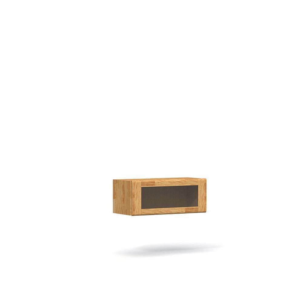 Vitrina suspendata din lemn masiv de stejar natural Seti, L80xl35xh32 cm