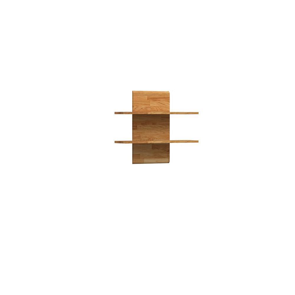 Etajera din lemn masiv de stejar natural Seti 2, L80xl22xh69 cm
