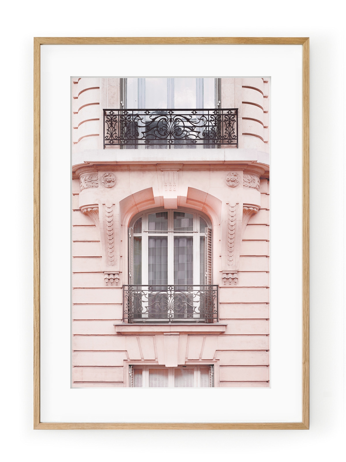 Tablou Paris in Pink Oak