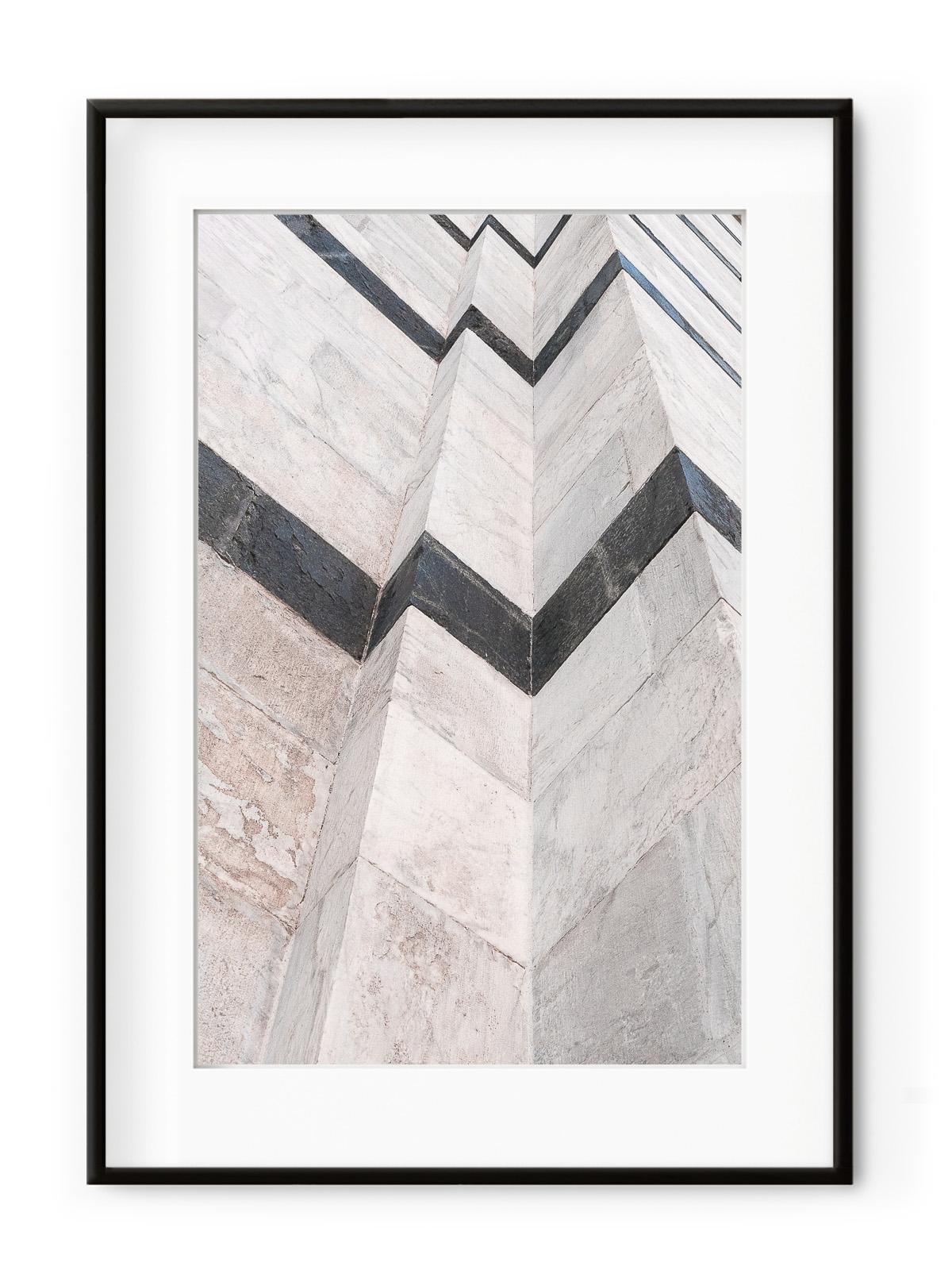 Tablou Marble Wall Aluminium Noir