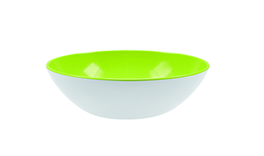 Bol salata Shallow Alb/Verde O24 cm
