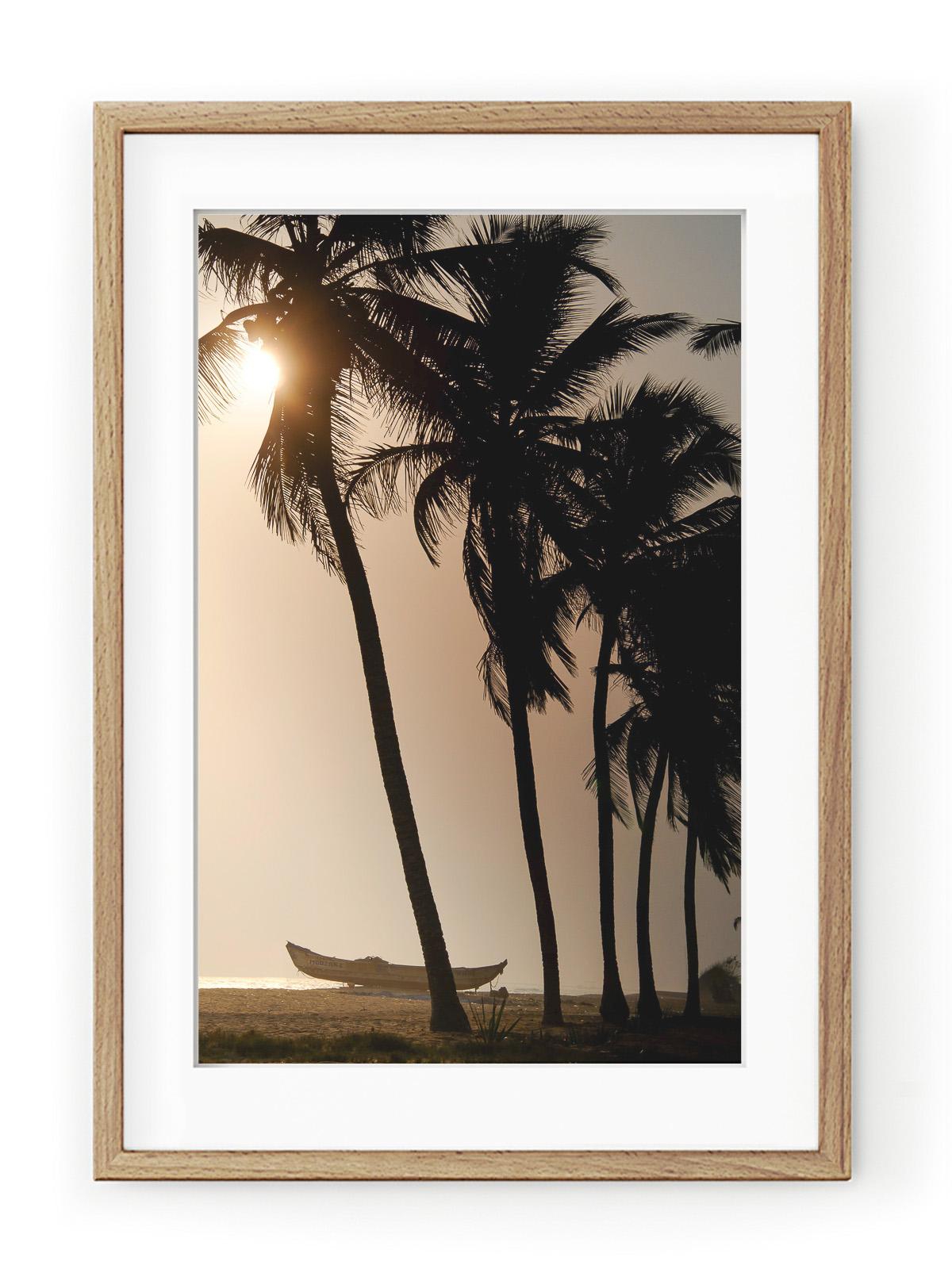 Tablou Sunset & Coconut Trees Oak