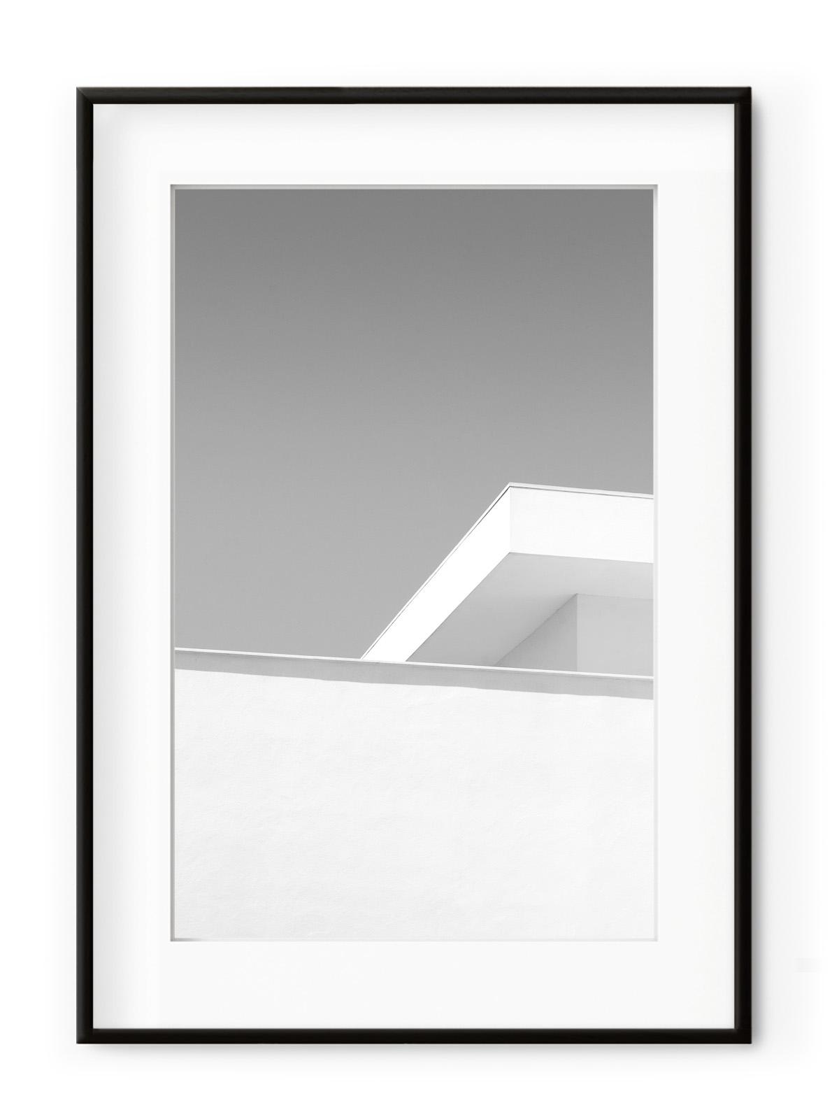 Tablou Minimal Achitecture Aluminium Noir